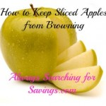 How to Keep Sliced Apples from Browning