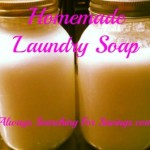 Homemade Laundry Soap! 3 Different Recipes!