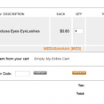 4 FREE Pairs of Medusa Eyes EyeLashes
