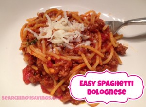 Easy Spaghetti Bolognese - Searching 4 Savings