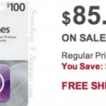 $100 iTunes Gift Card for $85 SHIPPED!