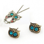 2Pcs Pack – Vintage Retro Art Deco Owl Head Charm Stud Earrings $.99 SHIPPED!