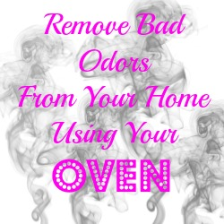 Remove Bad Odors From Your Home Using Your Oven