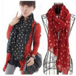 Women's Warm Polka Dot Scarves $2.06 Shipped!