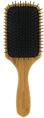 natural bamboo hair brush